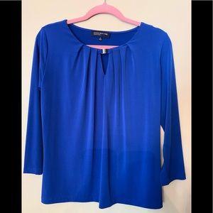Jones New York woman's blue blouse,size small